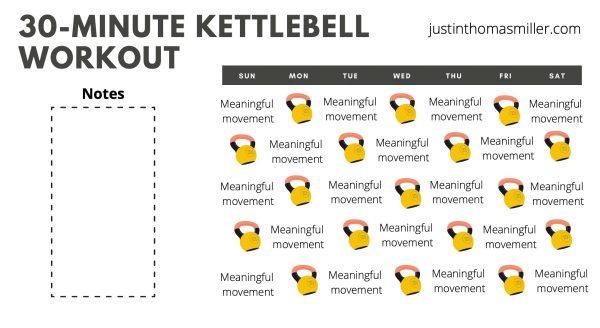30-minute kettlebell workout calendar