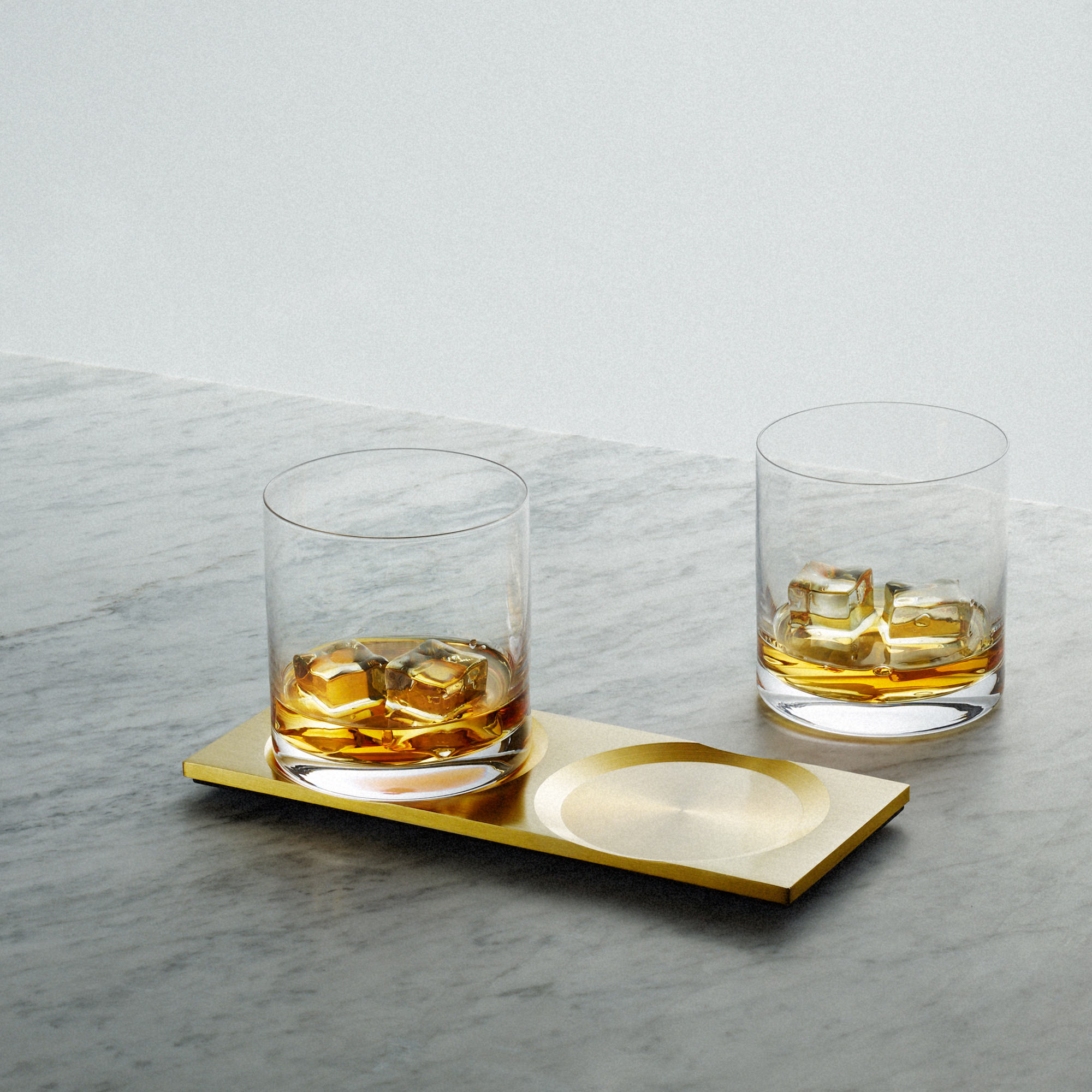Buster + Punch Brass Whisky Glass