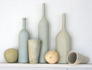 Poetic cups and bottles earthware