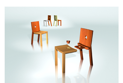 family chair by Justin Tsui