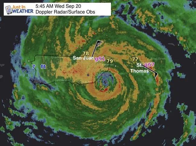 Hurricane Maria Making Landfall On Puerto Rico This Morning Just