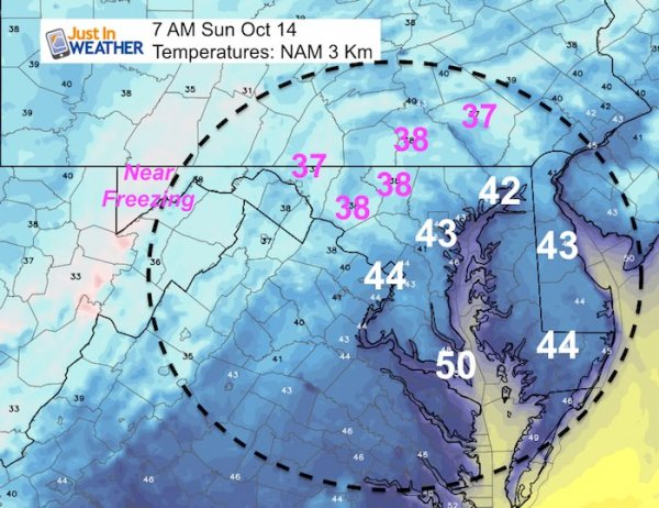 First Frost Possible Sunday