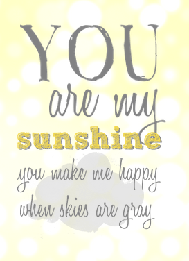 You are my sunshine free printable Valentines on lilkidthings.com