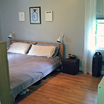 Our pretty bedroom…the final piece of the puzzle