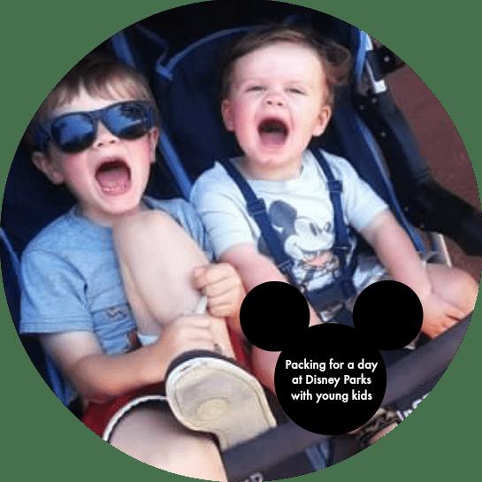 Kids at Disney in stroller
