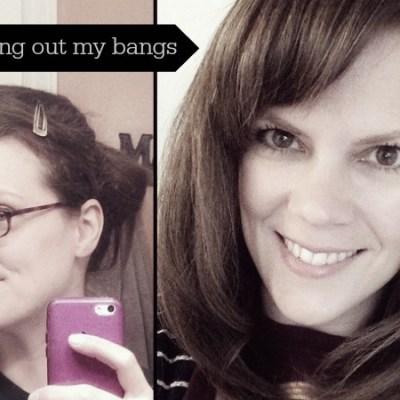 Saying goodbye to my bangs