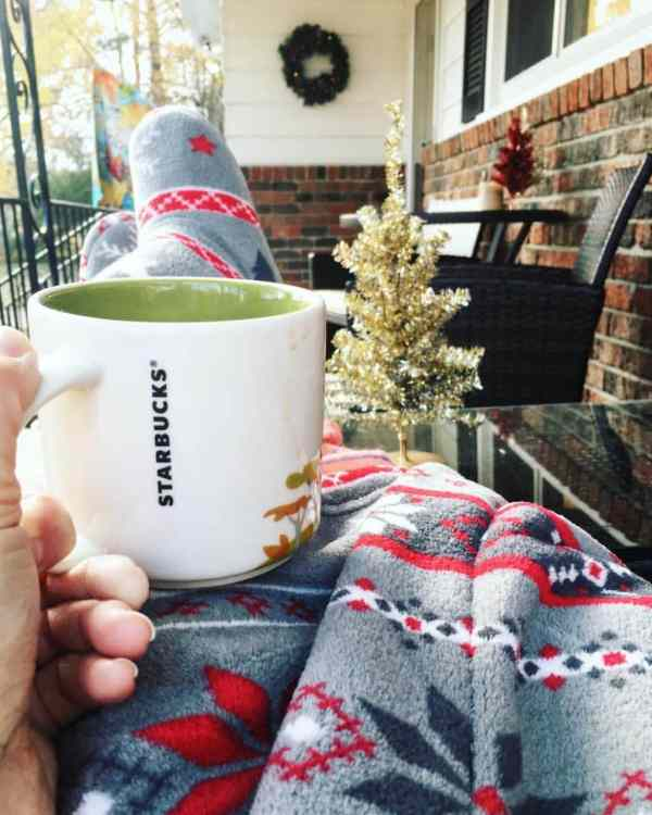 Coffee on the porch