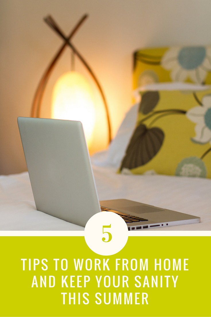 5 time management tips to balance working from home with kids on summer vacation. Yes, it can be done!