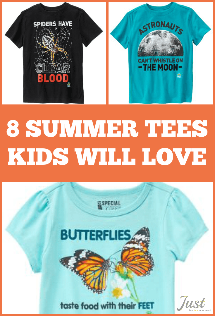8 summer tees for kids with fun weird-but-true facts! So soft and comfy!