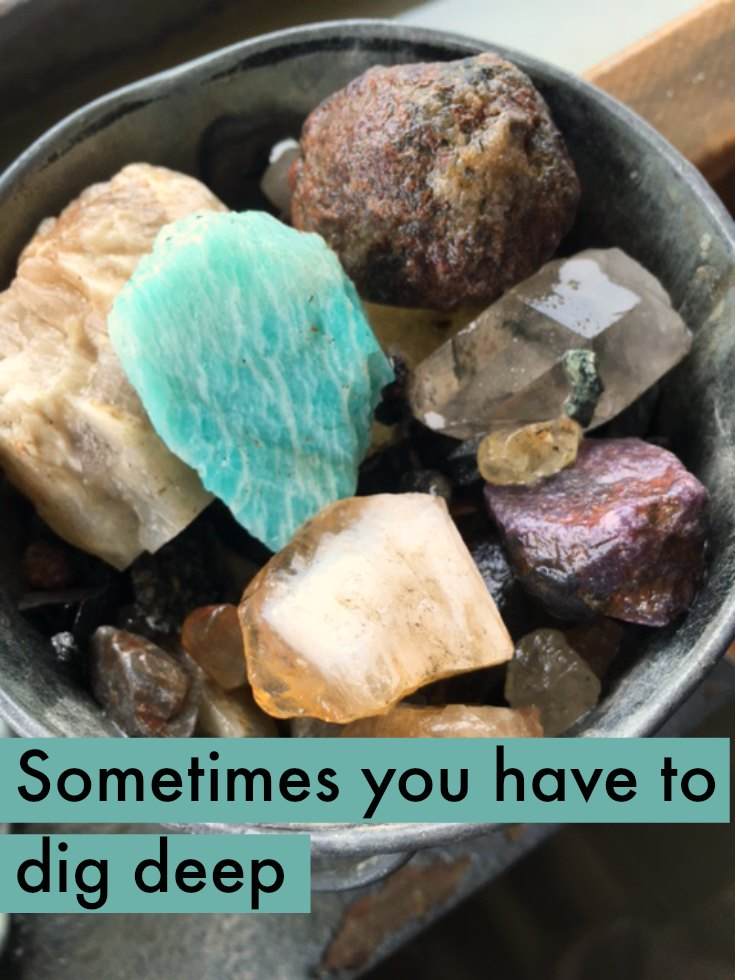Dig deep to find treasure in the core of your relationships
