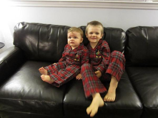 Christmas Card 2012 photo of Oscar and Calvin