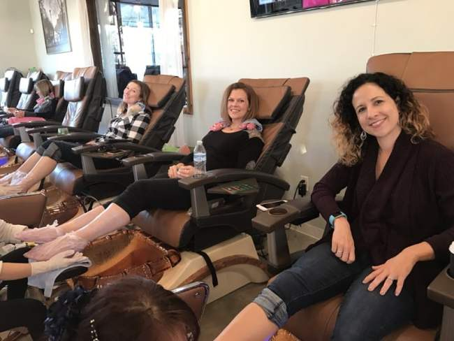 Pedicure time at the Nail Stop in Durham, NC photo by Fadra Nally