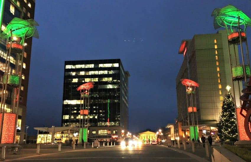 Raleigh City Plaza at Christmas