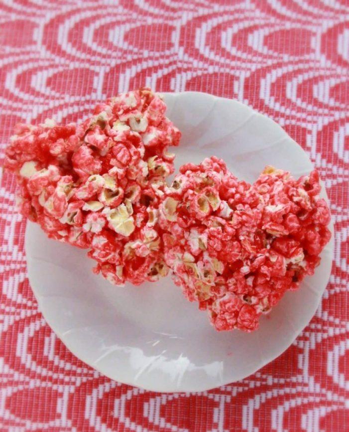 Diabetic Friendlier Heart Shaped Popcorn Balls