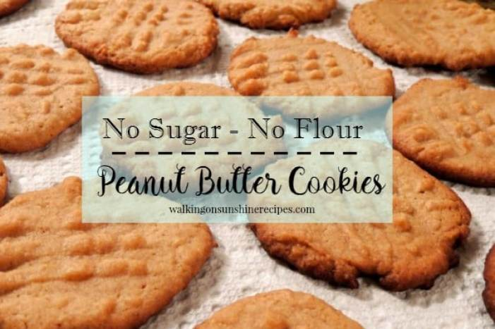No Sugar No Flour Peanut Butter Cookies from Walking on Sunshine