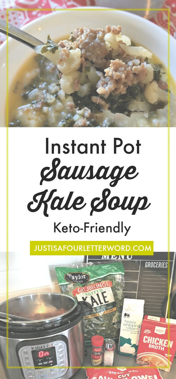 Easy Keto friendly sausage kale soup instant pot recipe