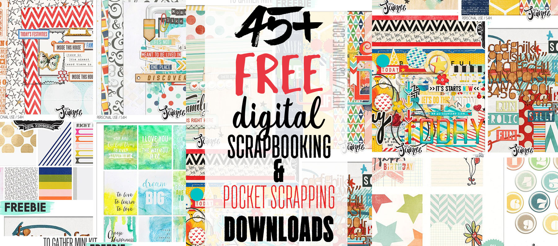 45 free digital scrapbooking project life downloads