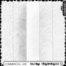 Digital Scrapbooking Commercial Use - Halftone Transparencies 2