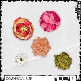 Digital Scrapbooking Commercial Use - In Bloom 1 Flowers