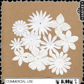 Digital Scrapbooking Commercial Use - In Bloom 2 Flowers