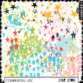 Digital Scrapbooking Commercial Use - Mixed Media - Star Stuff Brushes