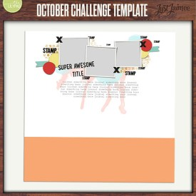 Digital Scrapbooking - October 2014 Free Challenge Template