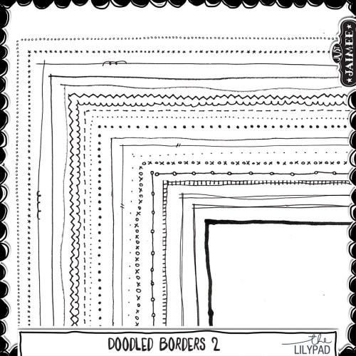 Digital Scrapbooking - Doodled Page Borders 2