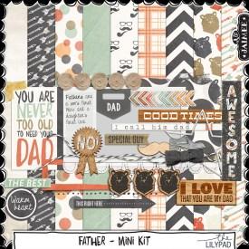 Digital Scrapbooking - Father - Mini Kit