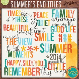 Digital Scrapbooking - Summer's End Titles