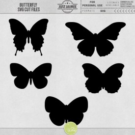 Digital Scrapbooking - Butterfly SVG Cutting Files