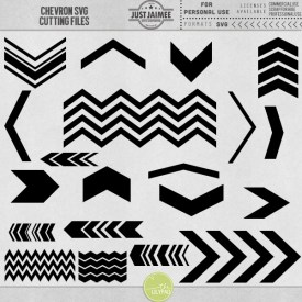 Digital Scrapbooking - Chevron SVG Cutting Files