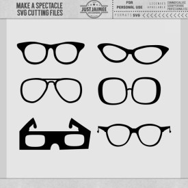 Digital Scrapbooking - Make a Spectacle Eye Glasses SVG Cutting Files