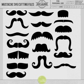 Digital Scrapbooking - Nice Stache Moustache SVG cutting files