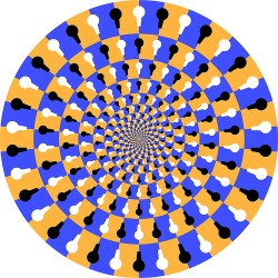 This JPEG image really isn't moving, but our brain tells us it is.
