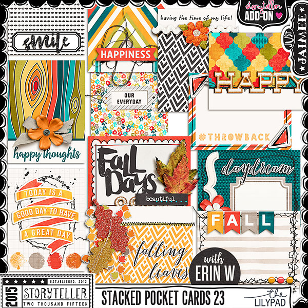 This set is so fun and really add a quick and fun accent to your pages and pocket spreads. They are stacked clips that you can place over a corner of your photos or in a corner of a layout / paper stacking to make it look layered and stacked. They are super fun!