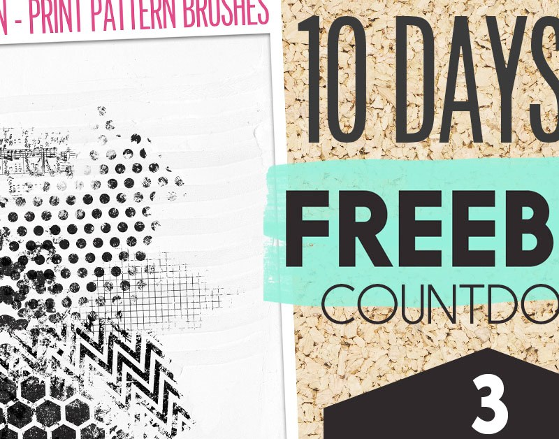 Freebie Countdown – Day 3 Print Pattern Brushes