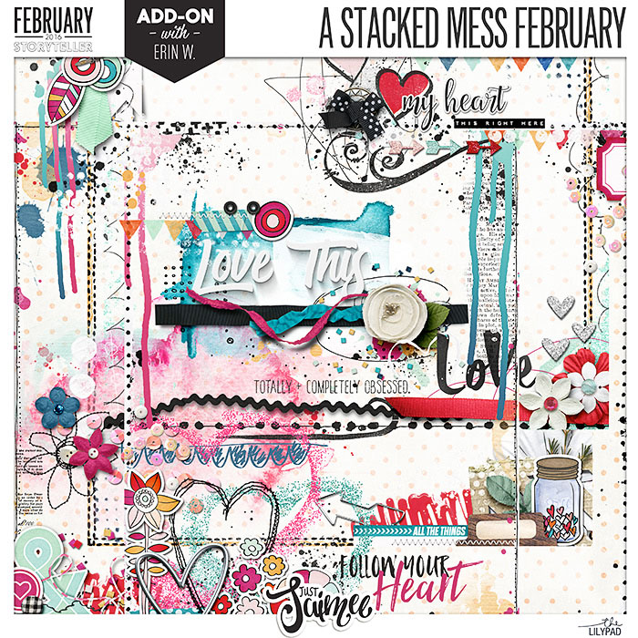 A Stacked Mess Borders + Clusters Digital Scrapbooking