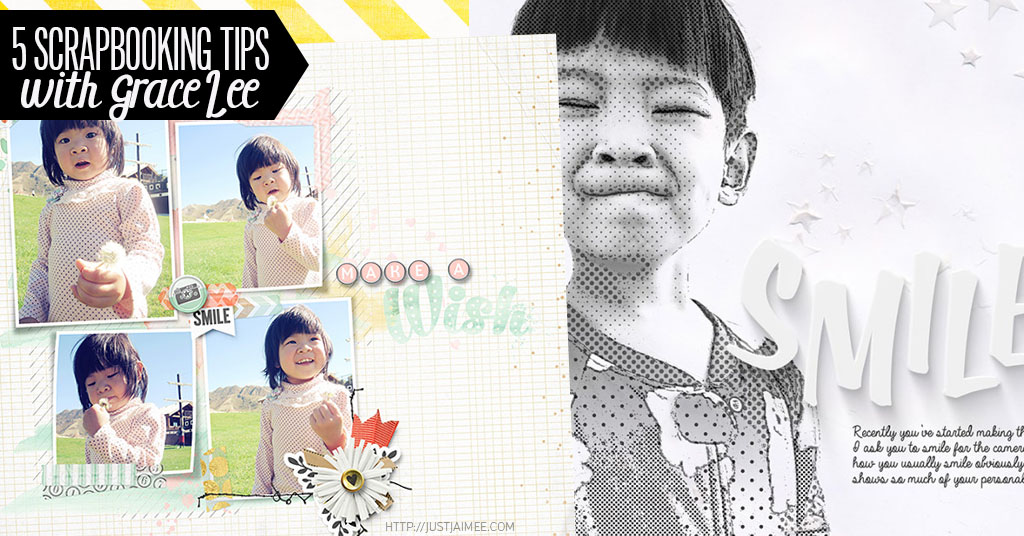 5 digital scrapbooking tips with grace