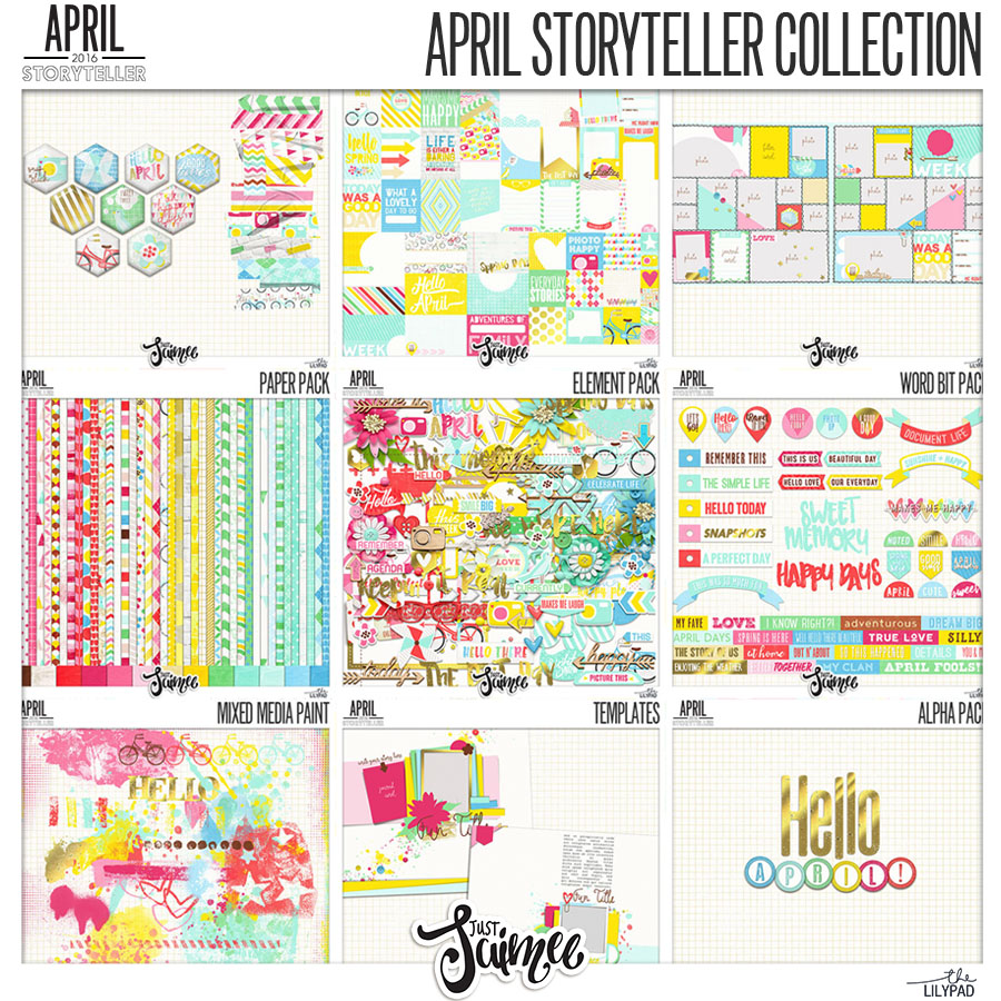 Digital Scrapbooking Collection April Storyteller