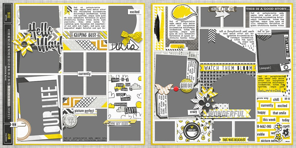 May Ready To Go Pocket Page Templates 3