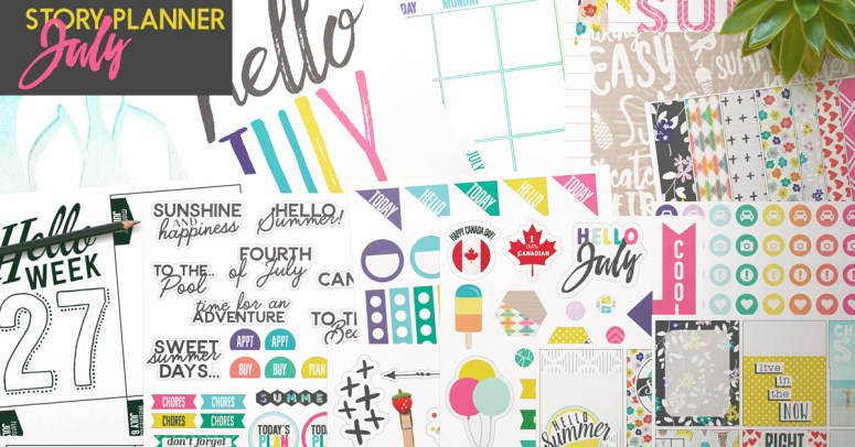 July Planner Kit + Sketched Templates 20% off