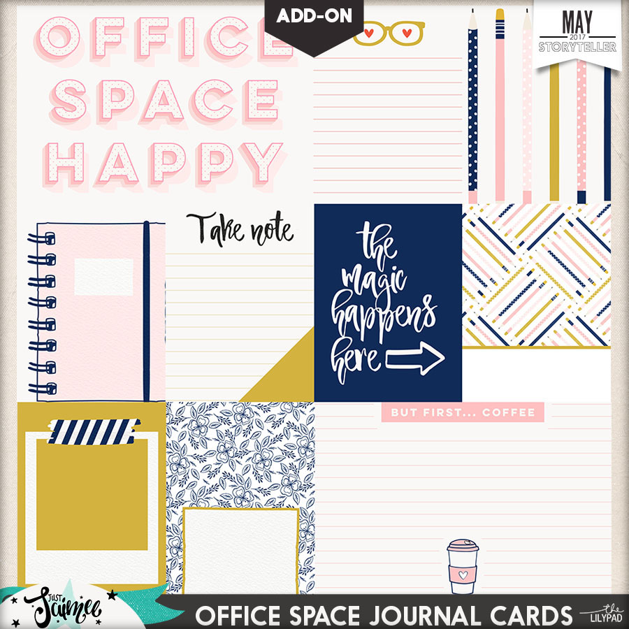 Office Space Digital Scrapbook Kit Journal Cards