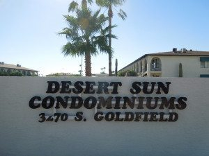 Welcome to Desert Sun Condominiums 55+ community