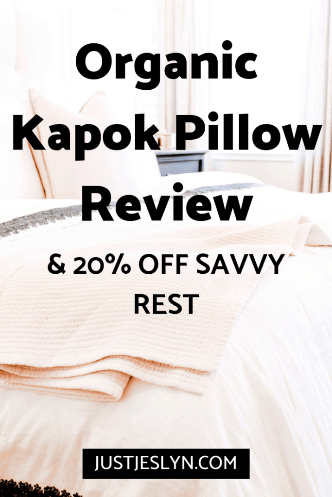 organic kapok pillow review and memorial day sale 20% off savvy rest