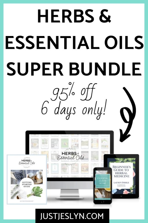 Herbs & Essential Oils Super Bundle | www.justjeslyn.com