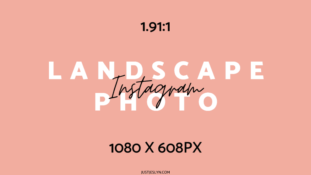 Instagram Post Size: How to Create Perfect Photos for Instagram | Landscape Photo | Just Jes Lyn