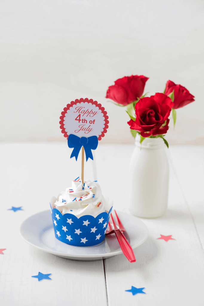 Grab some 4th of July toppers and stick them on everything at your party! - Just Jes Lyn