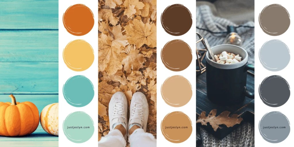 25+ Best Fall Color Palettes & Fall Colors 2021
