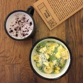 Blueberry Latte & Matcha Bowl from Wild & the Moon
