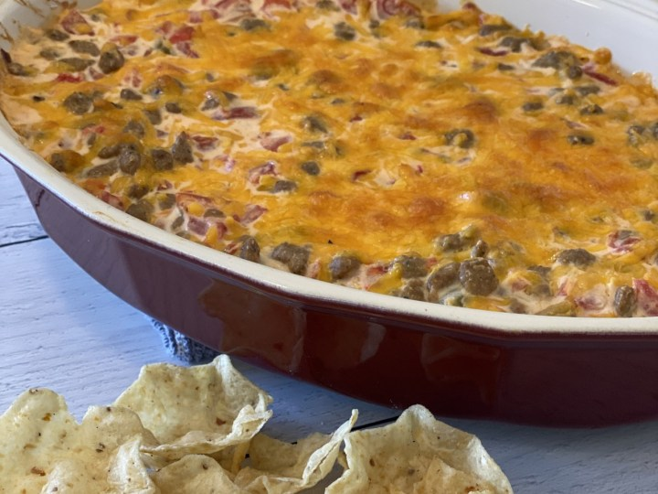 Hot And Light Sausage Cheese Dip